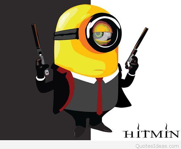 Hitman Clipart minion
