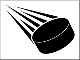 Clip Art: Ice Hockey Puck Bu0026W 3 I abcteach clipartlook.com - preview 1