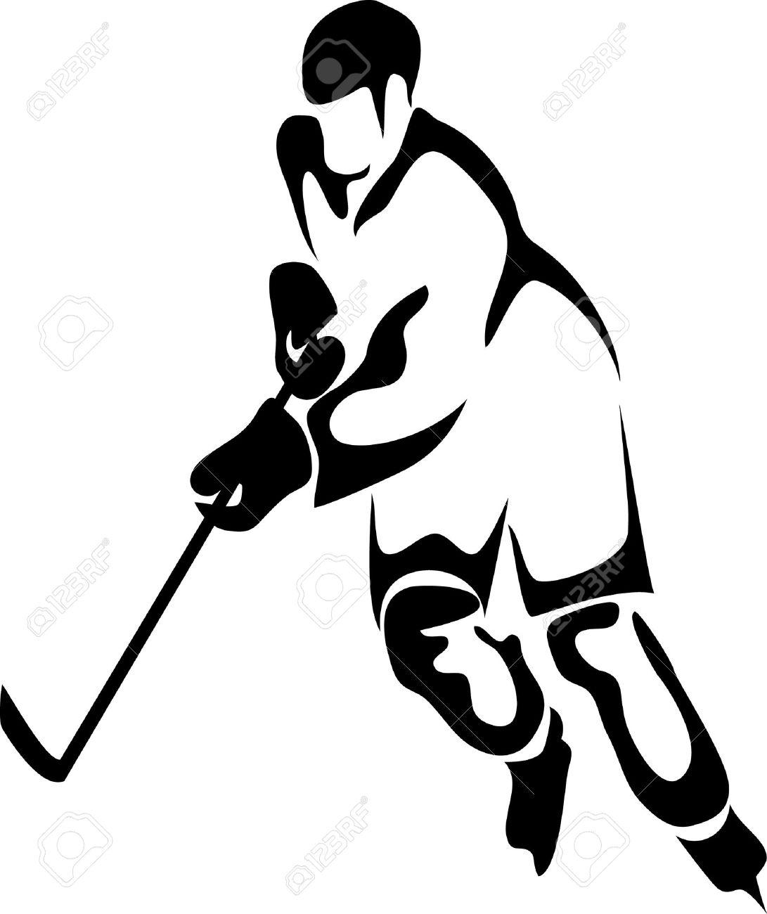 Hockey Player Shooting Clipart . skating ice: hockey player .