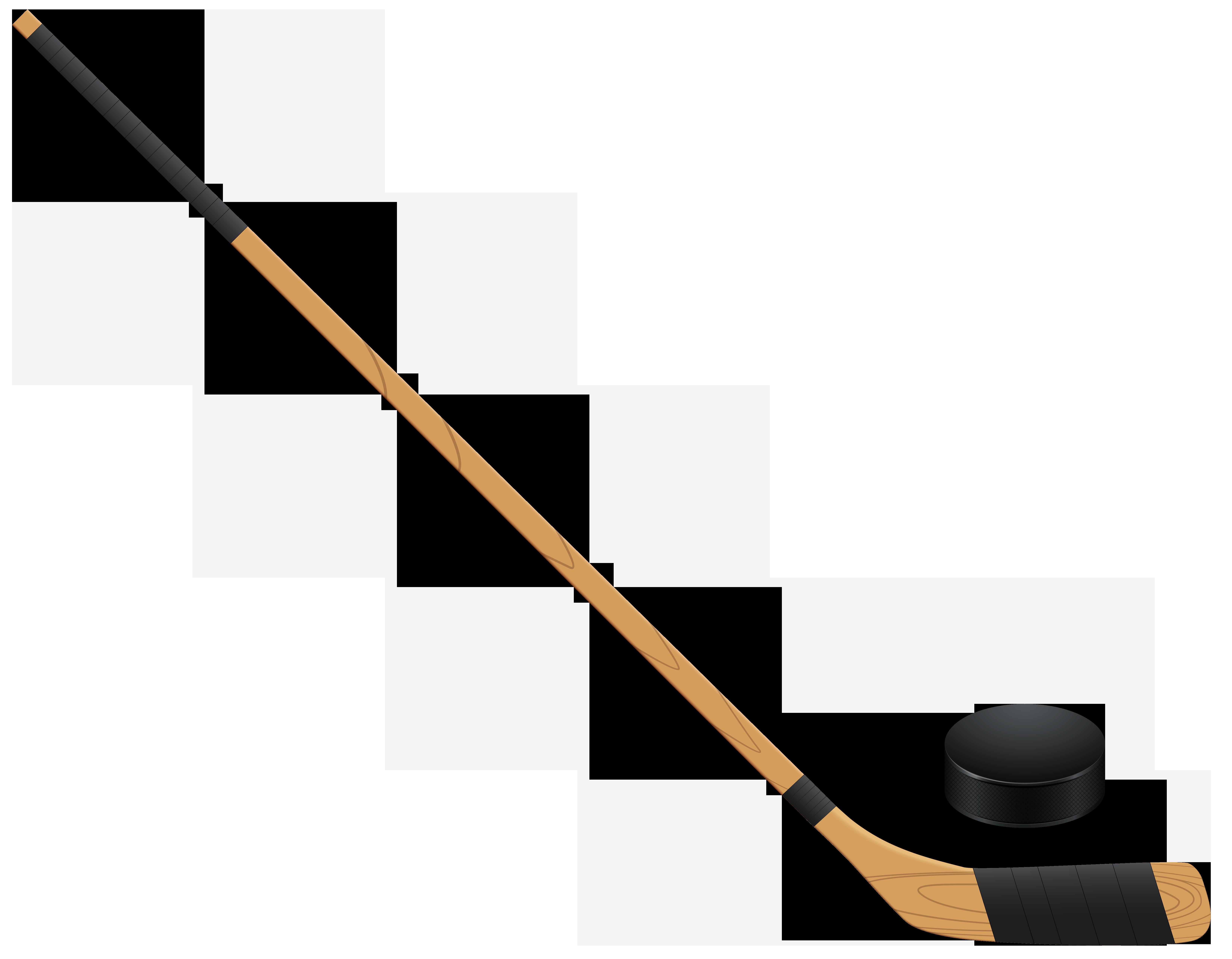 Hockey Stickand Puck PNG Clip .