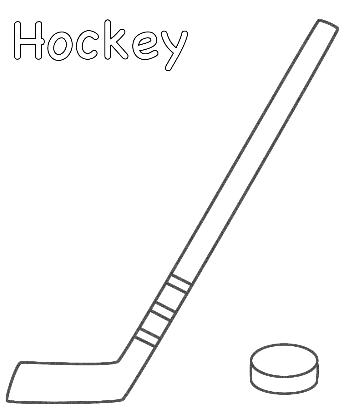 Hockey Sticks Crossed - Clipart library. hockey_stick_puck.png