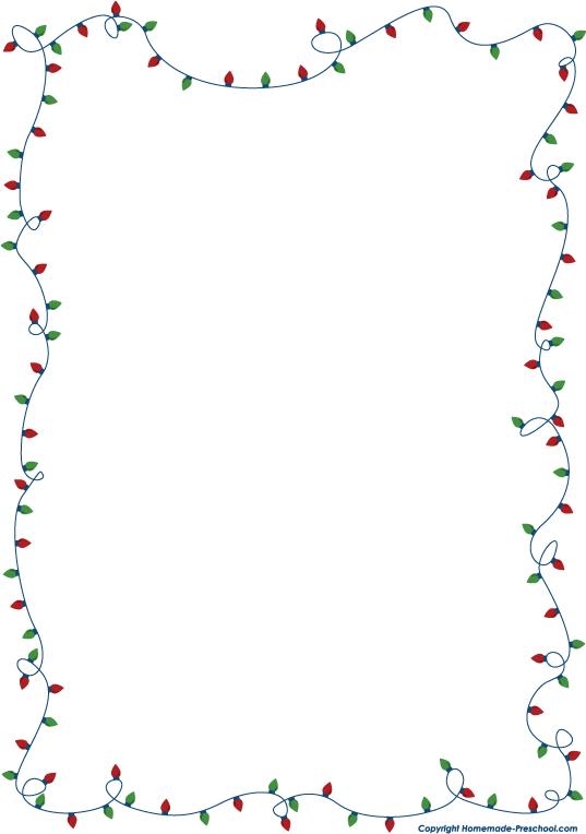 Holiday Clip Art Borders - .