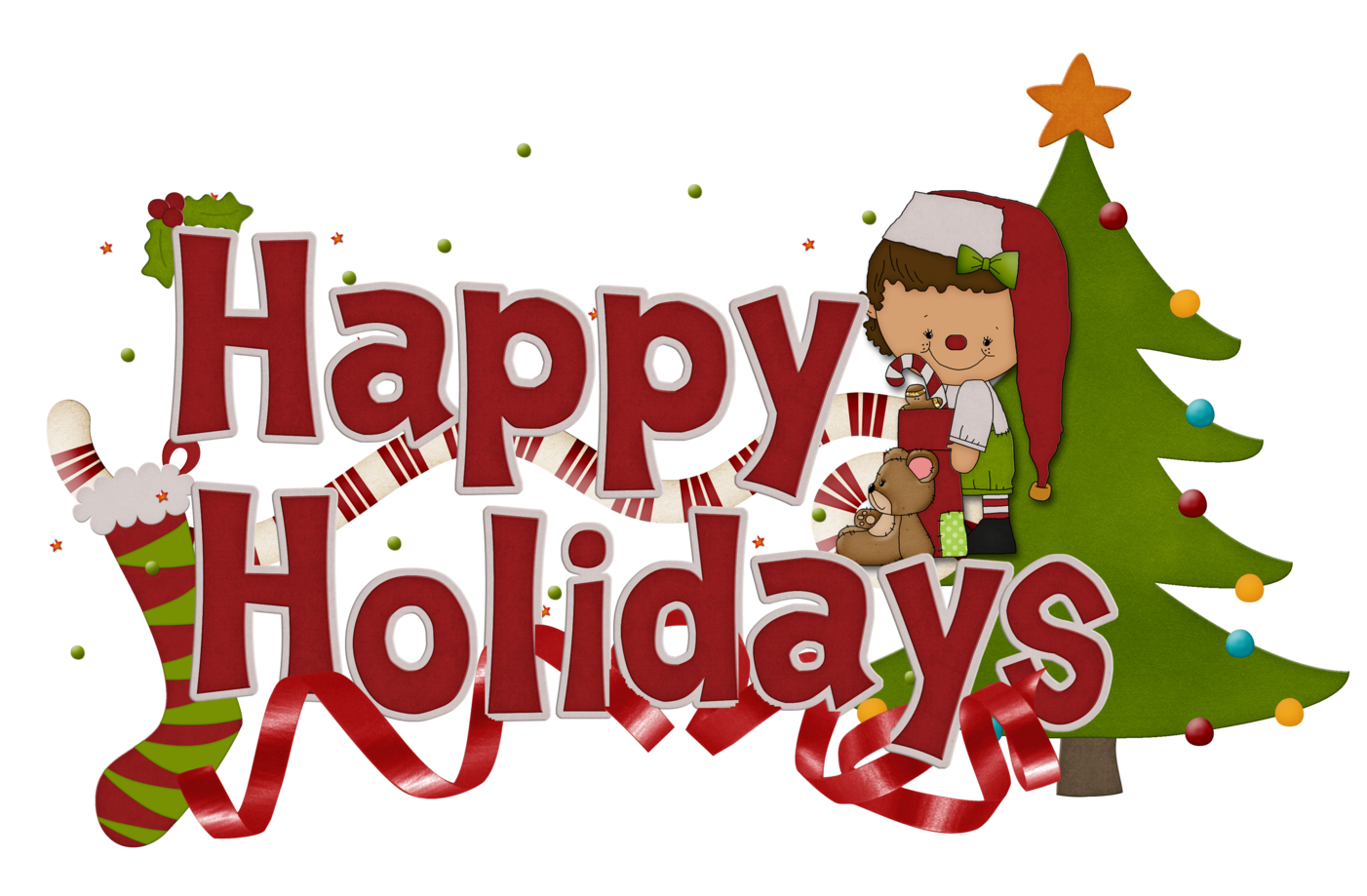 Free Happy Holidays Clip Art | Our Sneak Elf Friend And A Friday Hdclipartall.com