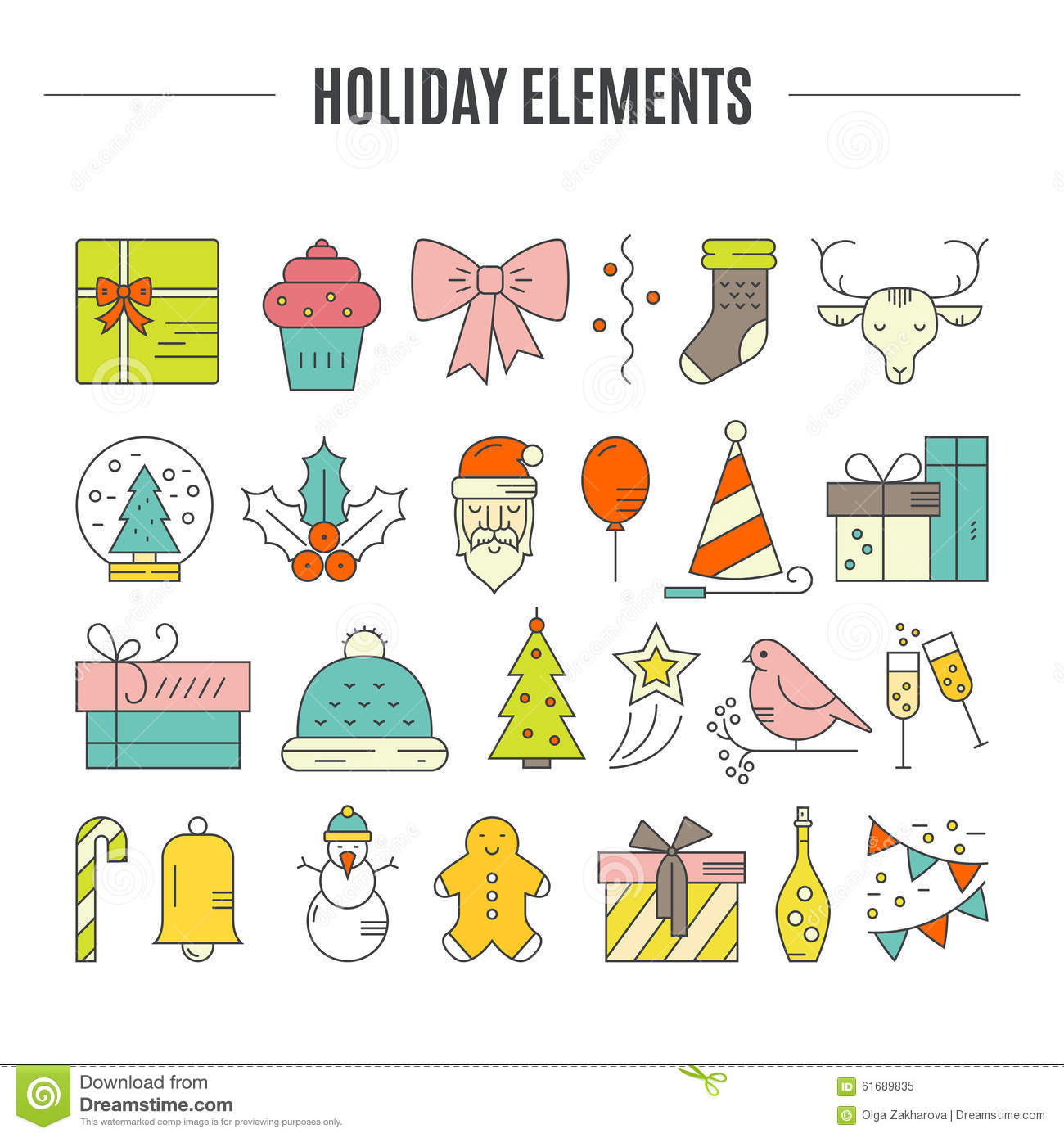 Holiday Clipart stock vector. - Holiday Clipart