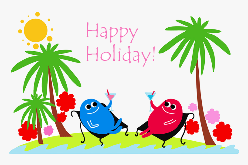 Holiday Happy Holidays Summer - Holiday Clipart