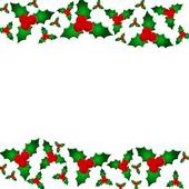 Holly berry clipart border - .