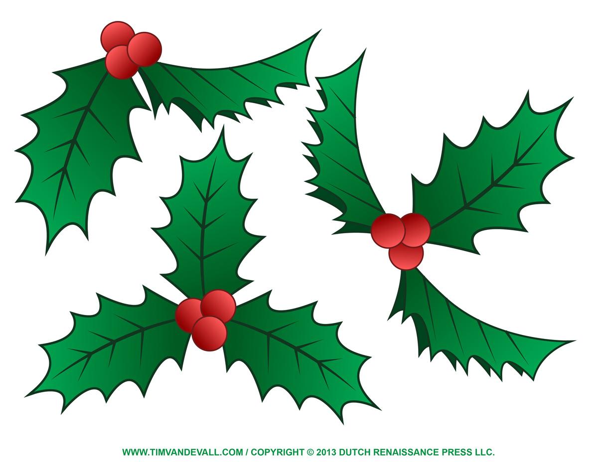 holly clip art free christmas .