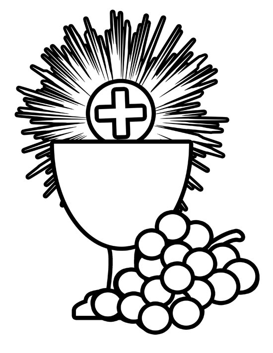 Holy Communion Cup Clipart Black And White Clipart Best