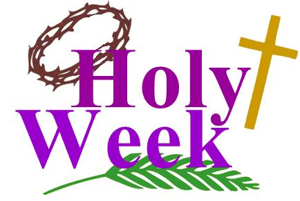 Holy Week Blessings With Thorn Crow, Cross And Palm Leaf