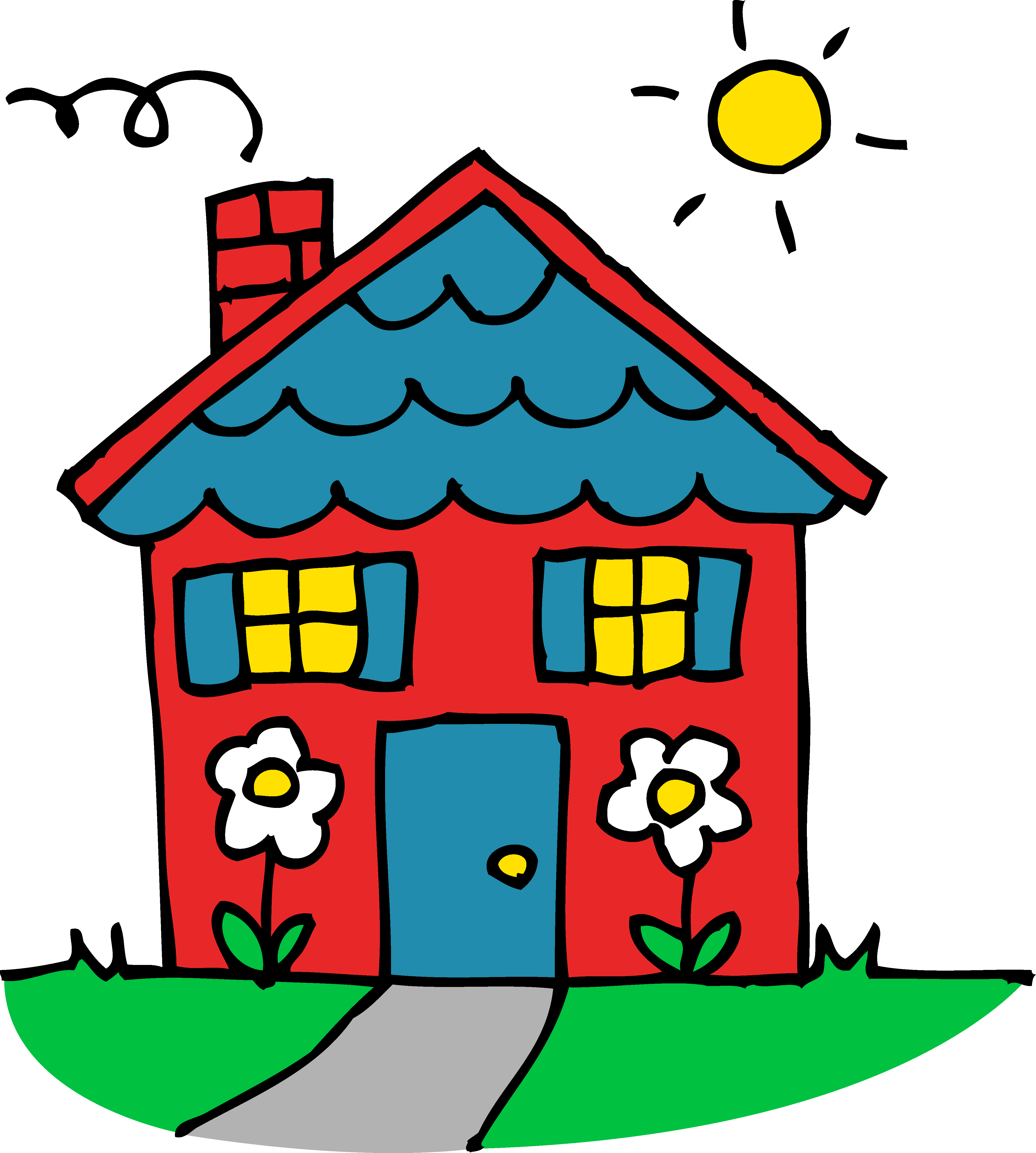 Artistic house clipart - Clip - Home Clipart