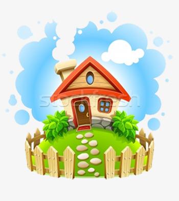 cute happy home, Cute Clipart - Home Clipart