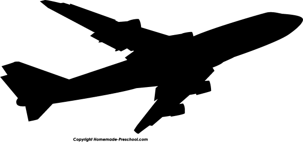 Home Free Clipart Silhouette Clipart Silhouette Airplane