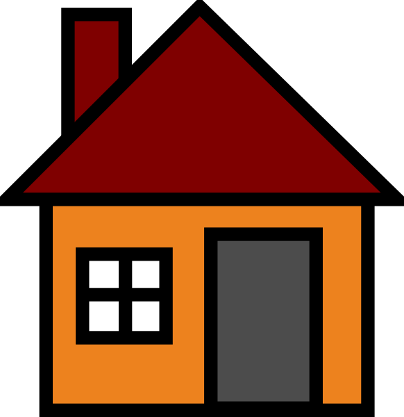 Home simple house clipart free images