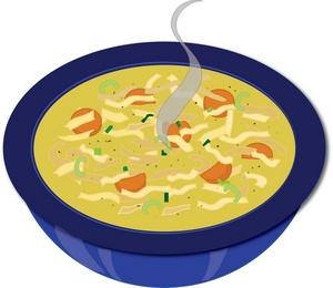 Homemade soup clipart