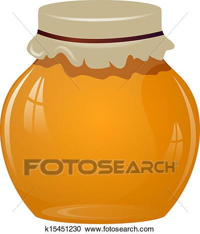 Jars of honey - Honey Clipart