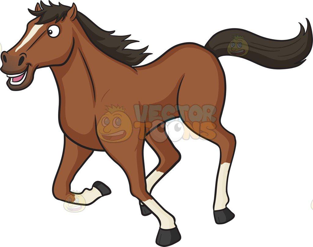A Happy Running Horse