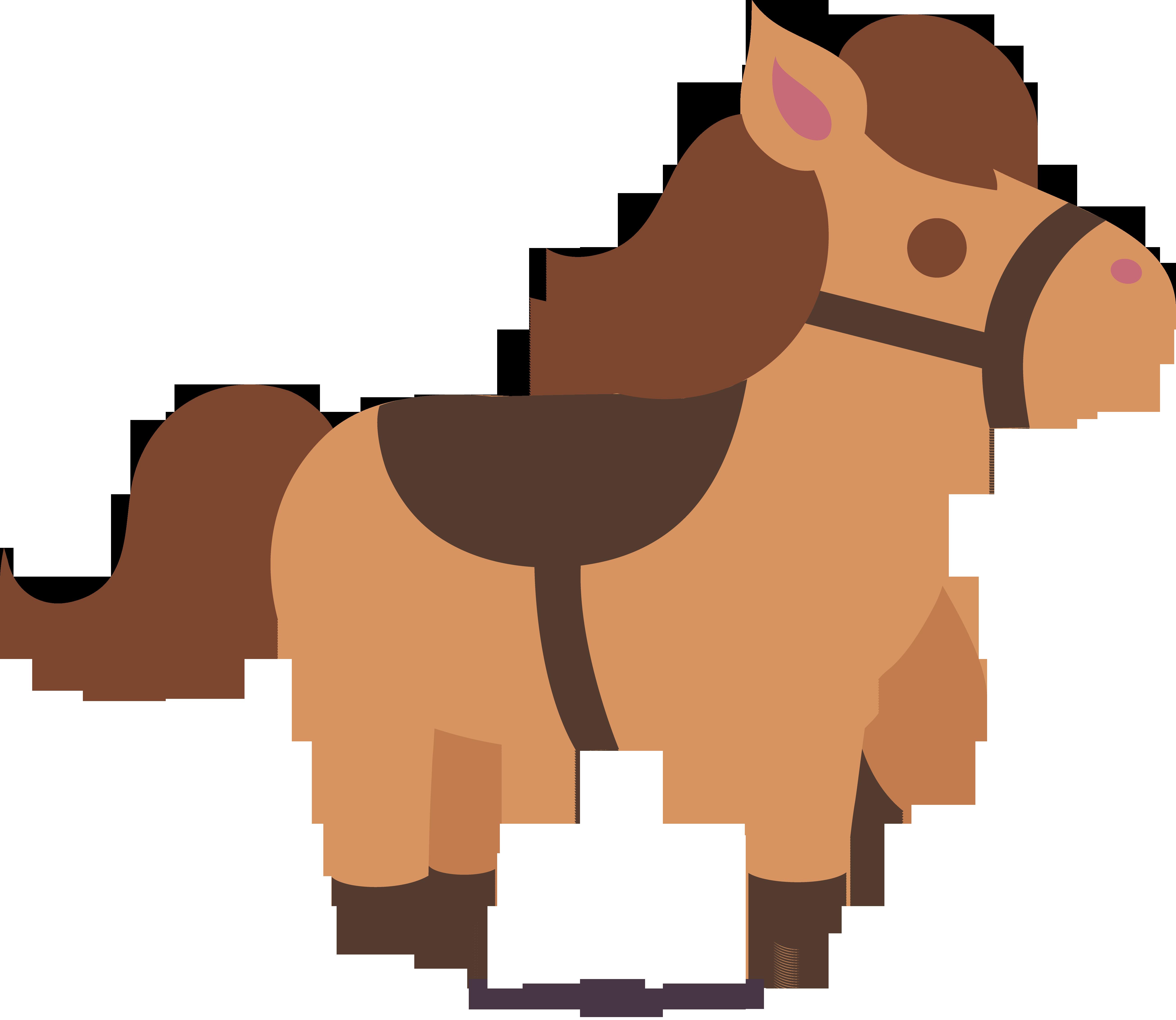 Cute Brown Horse 2 Clip Art