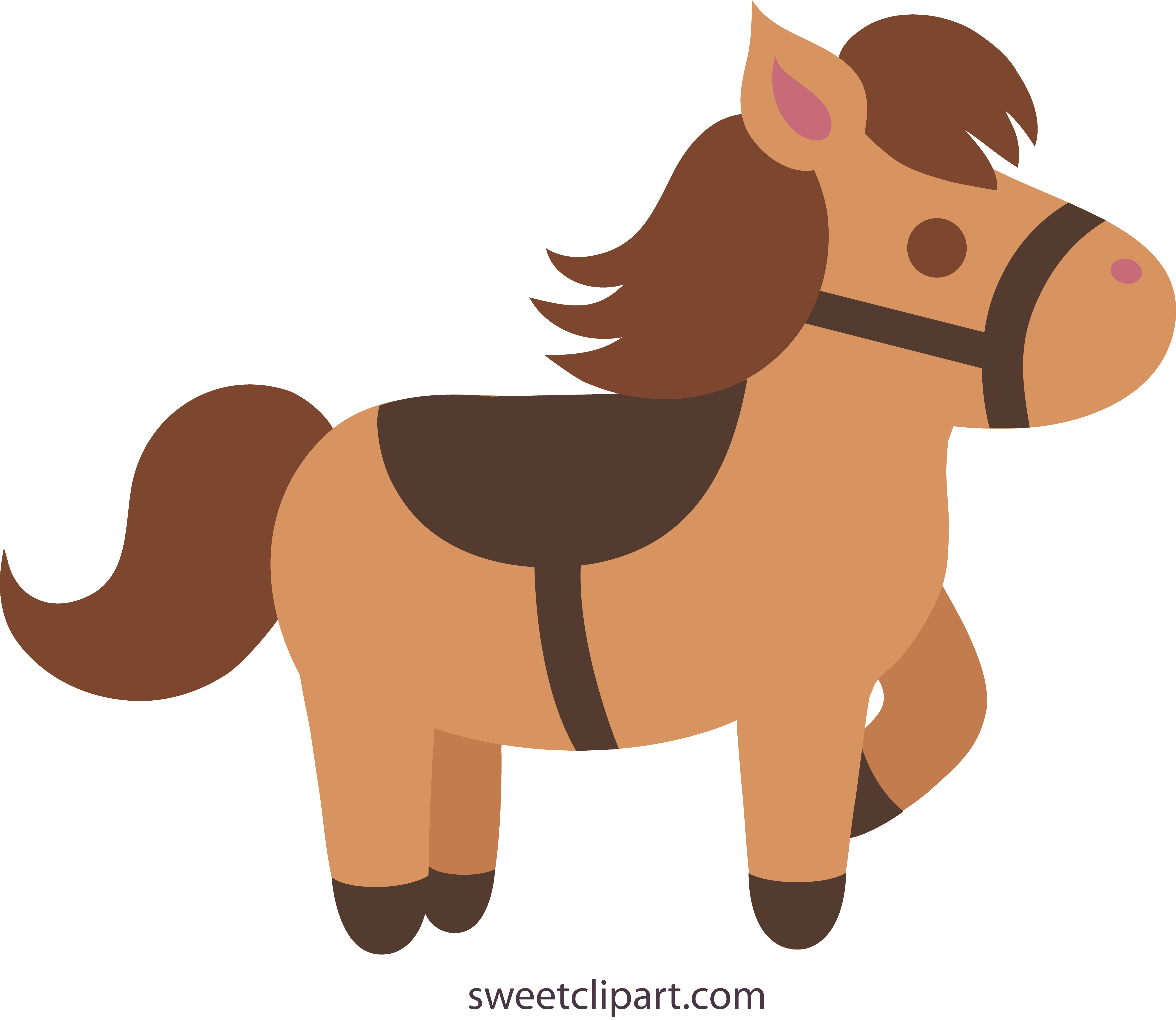 Cute Brown Horse 2 Clip Art