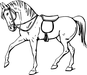 . hdclipartall.com free vector Walking Horse Outline clip art hdclipartall.com
