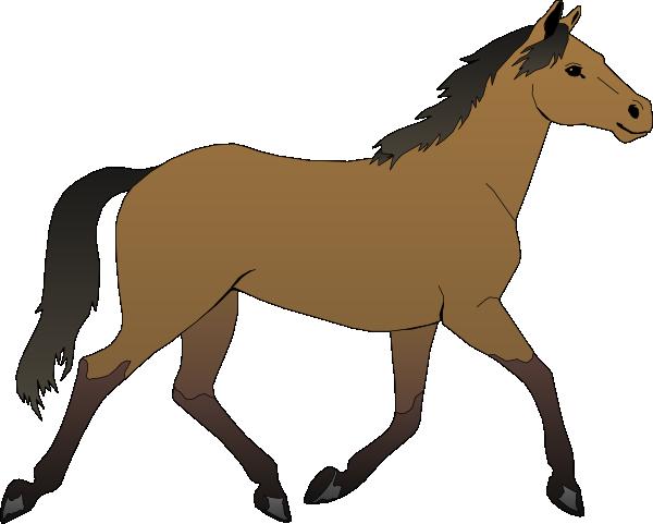 Horse Clip Art | Running Horse clip art - vector clip art online, royalty  free u0026 public .