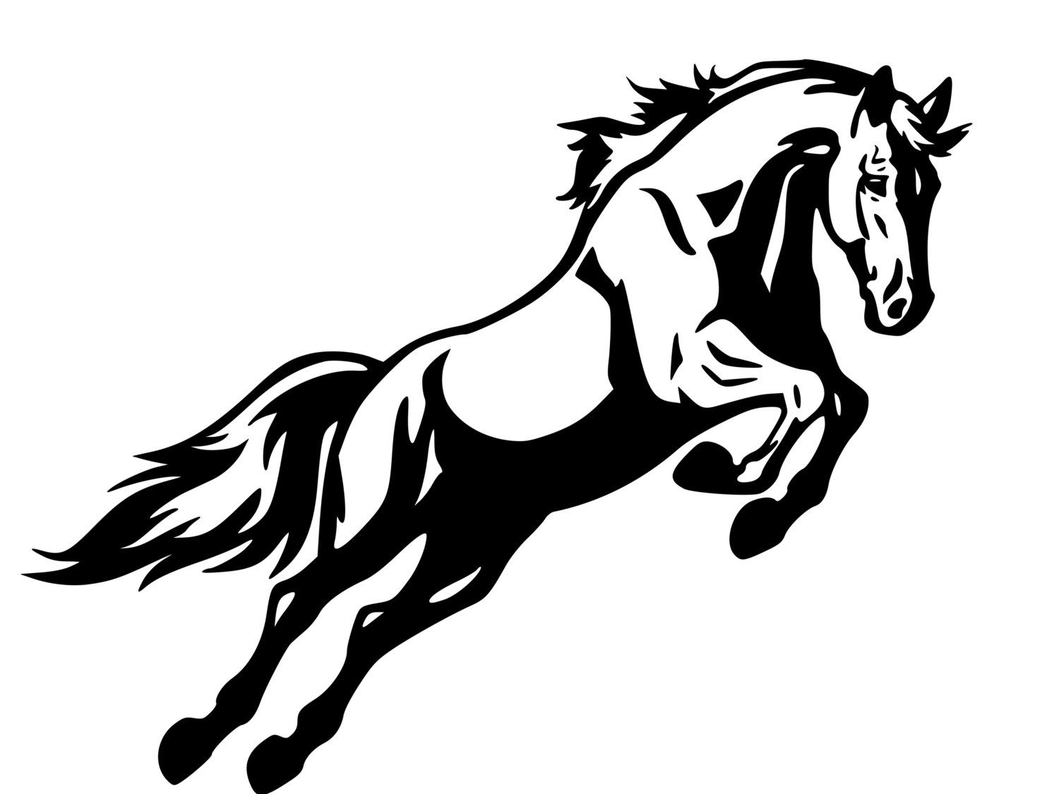 horse clipart silhouette - Go - Horse Clipart