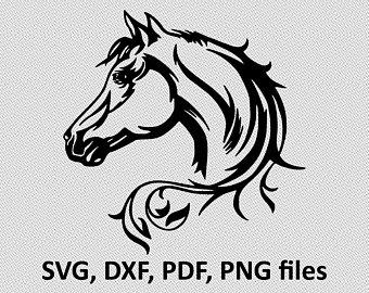 Horse SVG/ Horse DXF/ Horse Clipart/ Horse Files, printing design, cutting, Horse silhouette, Horse vector, Horse head, elegant horse