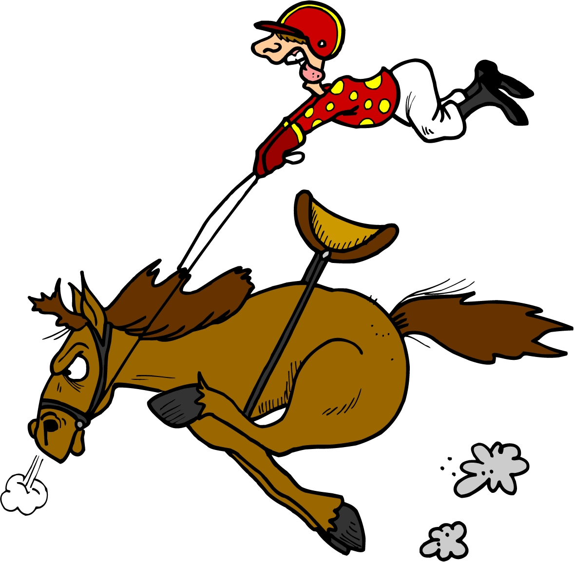 Horse Clipart Image Cartoon Standing In A Pasture Eating Grass