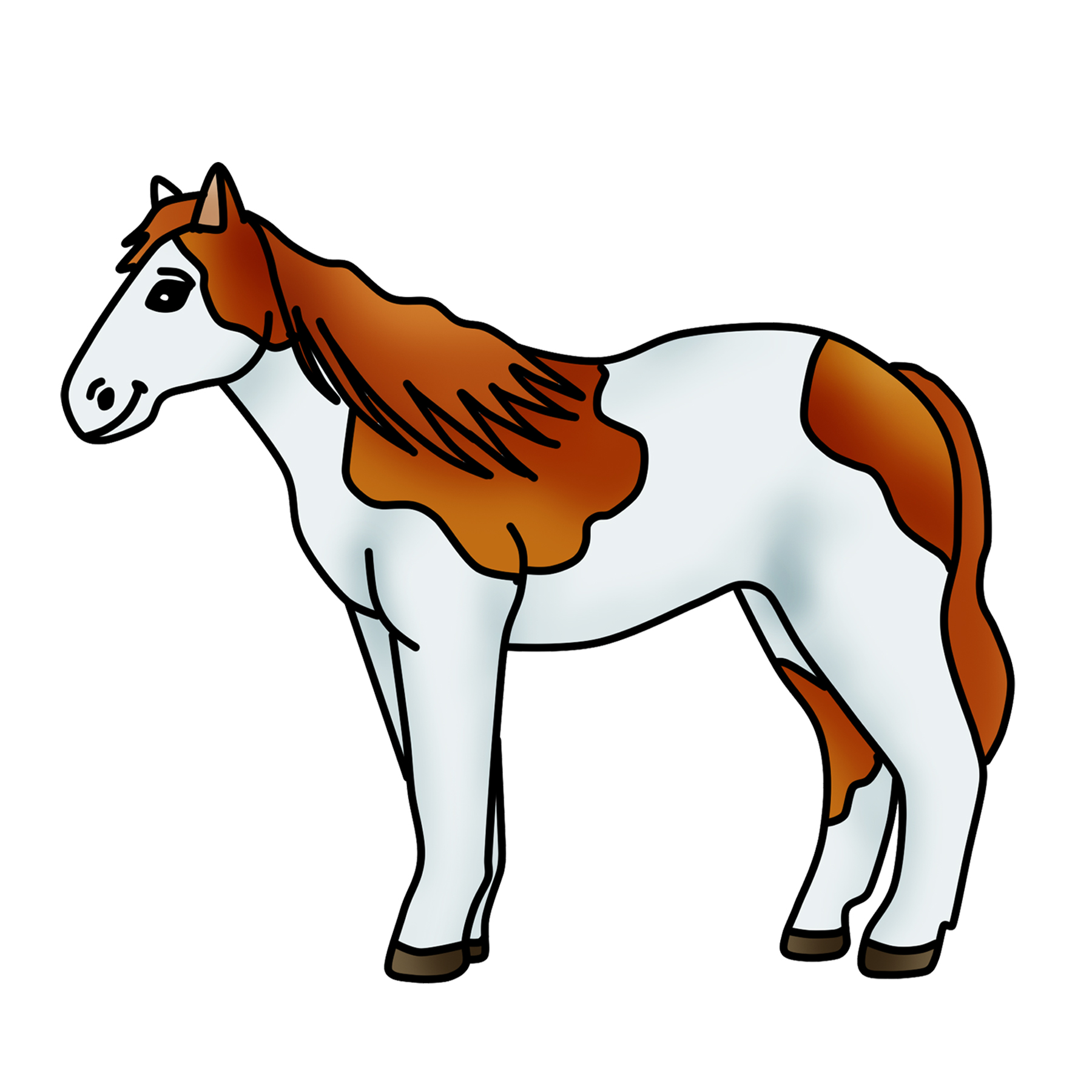 Spotted Horse Clipart Free - Horse Clipart