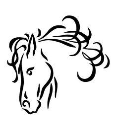 Horse Line Drawings Clip Art | 24 horse head line drawing free cliparts that you can