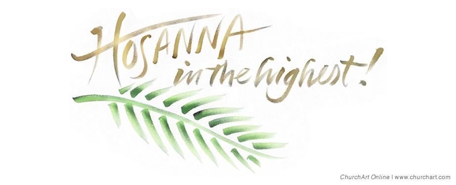 Hosanna Palm Sunday clip-art