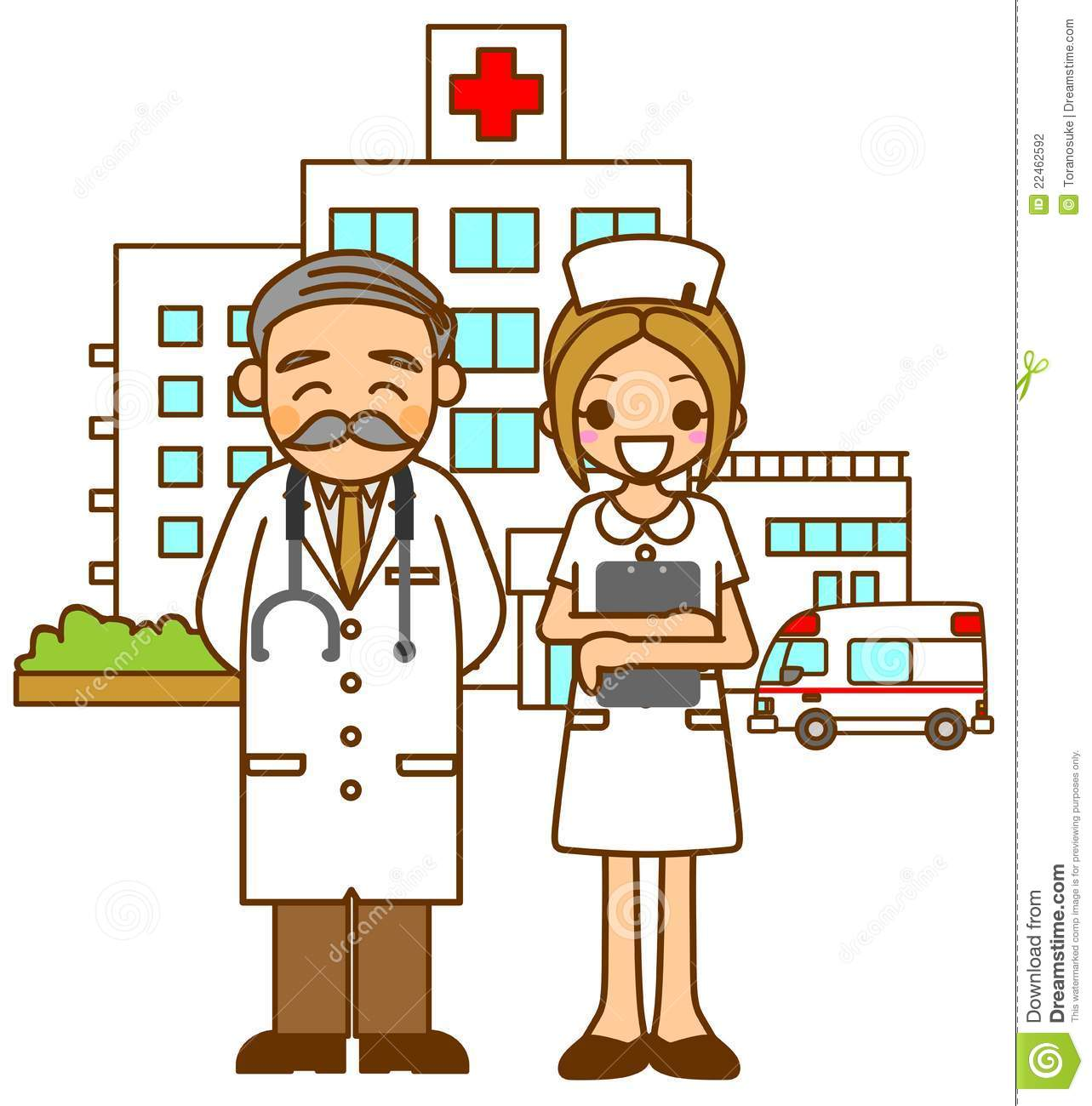 Hospital Doctors And Nurse .
