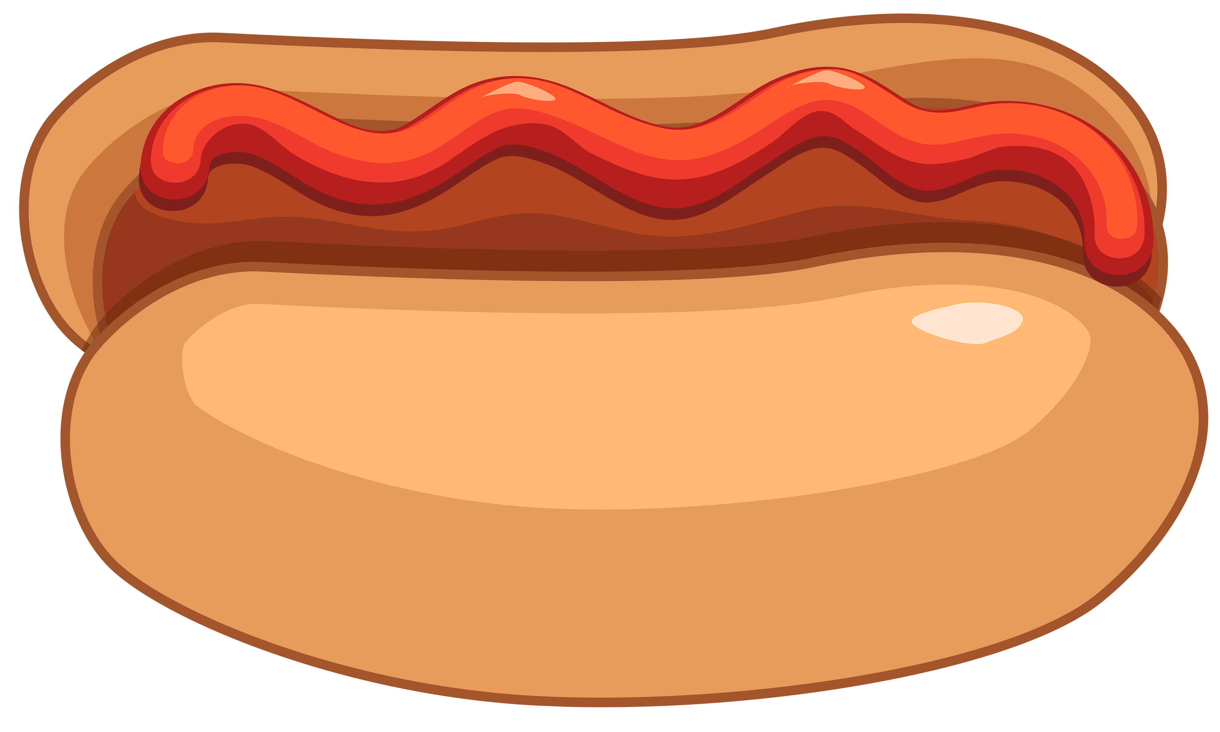 Hot dog and ketchup clipart .