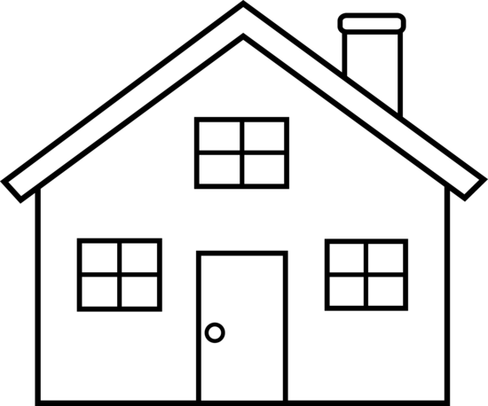 house clipart black and white