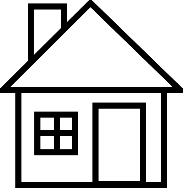 House Clipart Black And White this image as: