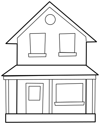 House Clipart Black And White Free Image Gallery