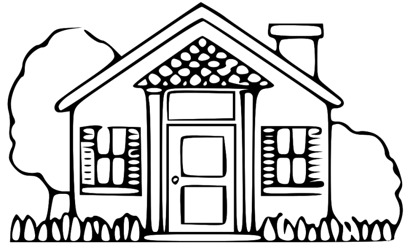 home clipart black and white house clipart black and white clipartion  animations