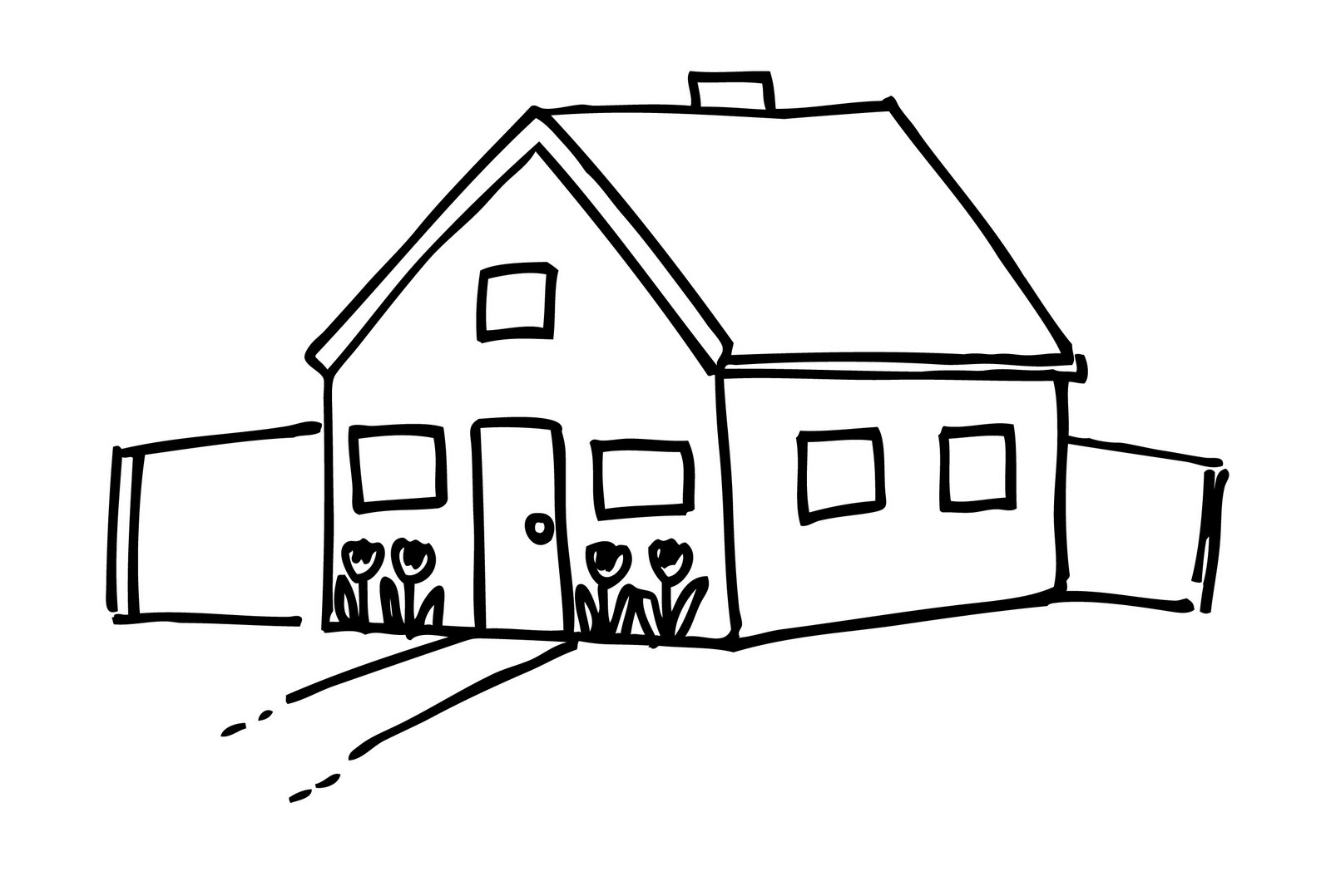 House black and white house clipart black and white 5