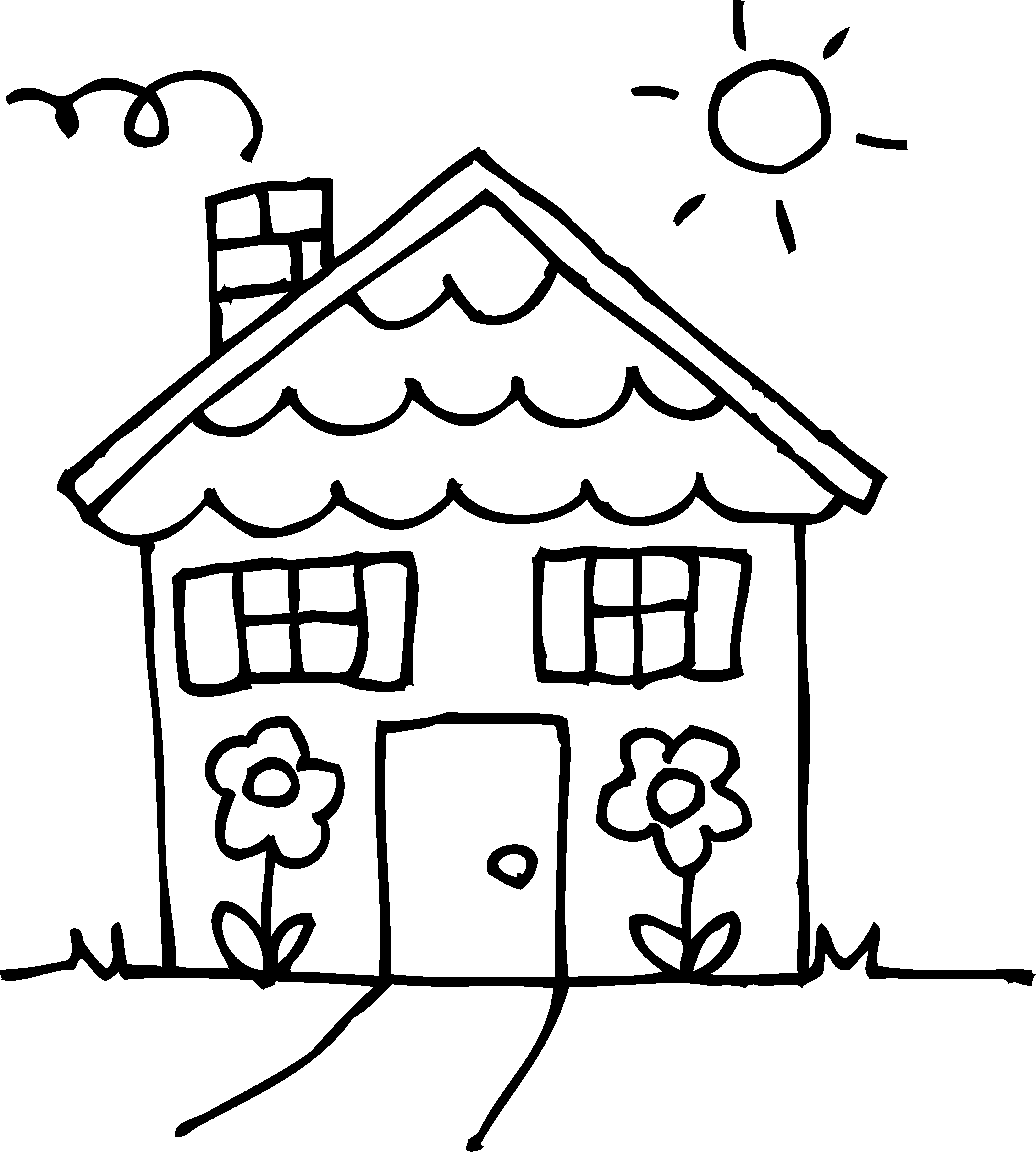 House black and white house clipart black and white clip art library