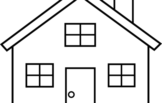 house-clipart-black-and-white- .