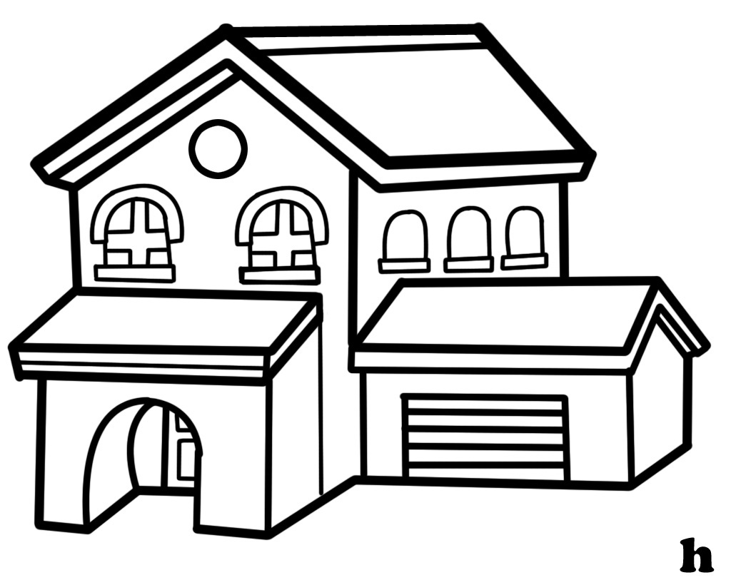 White House clipart bungalow #1
