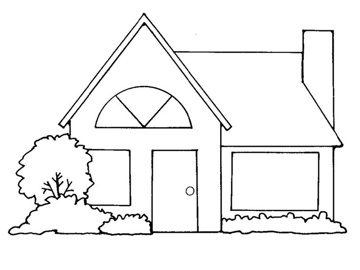 White House clipart house outline #2