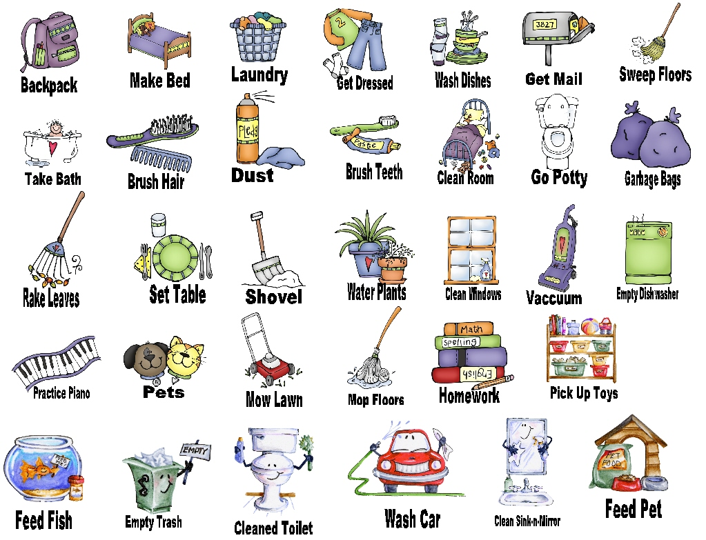 Household Chores Clipart