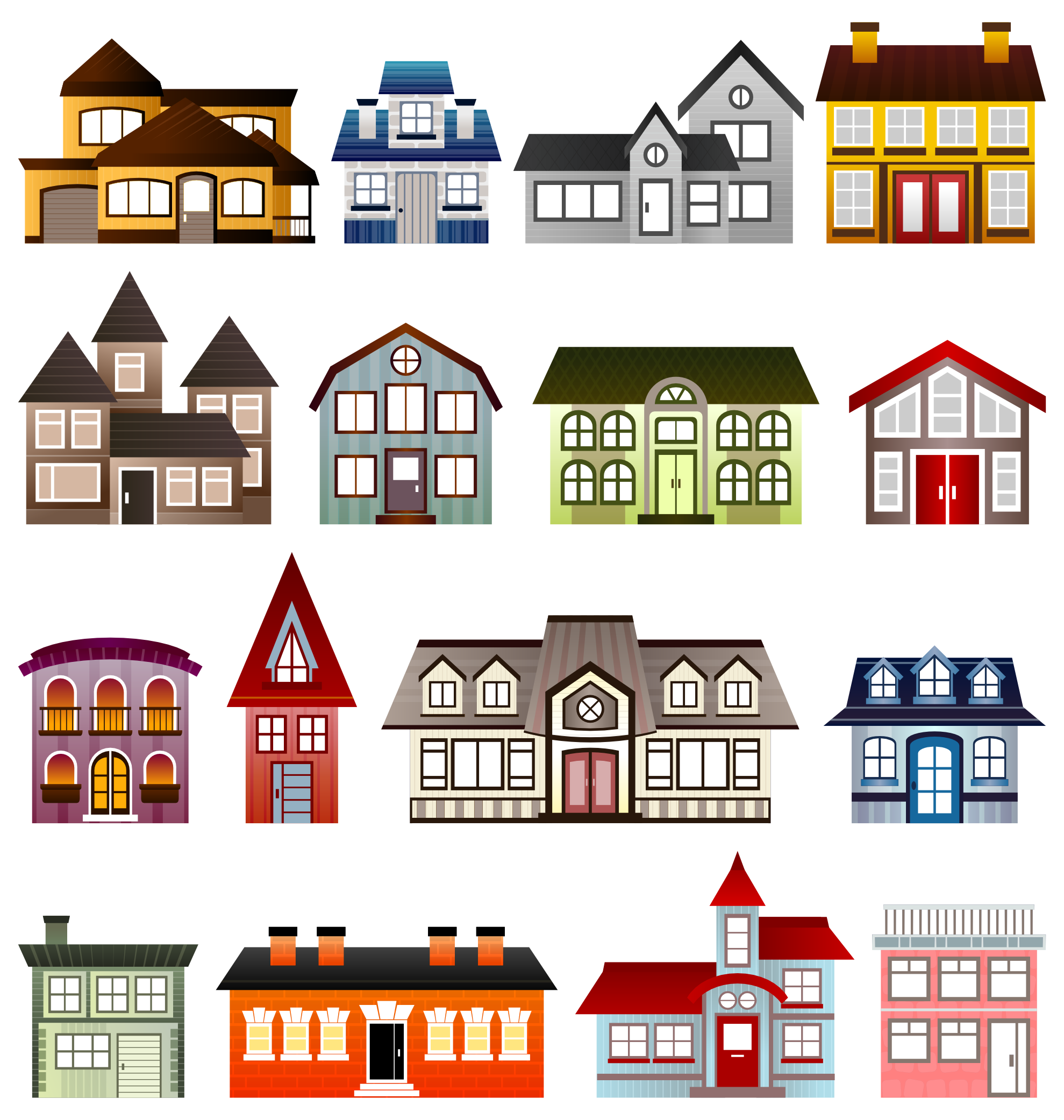 Houses Viscious Speed Scallywag March Clipartist Net Art Clip Art