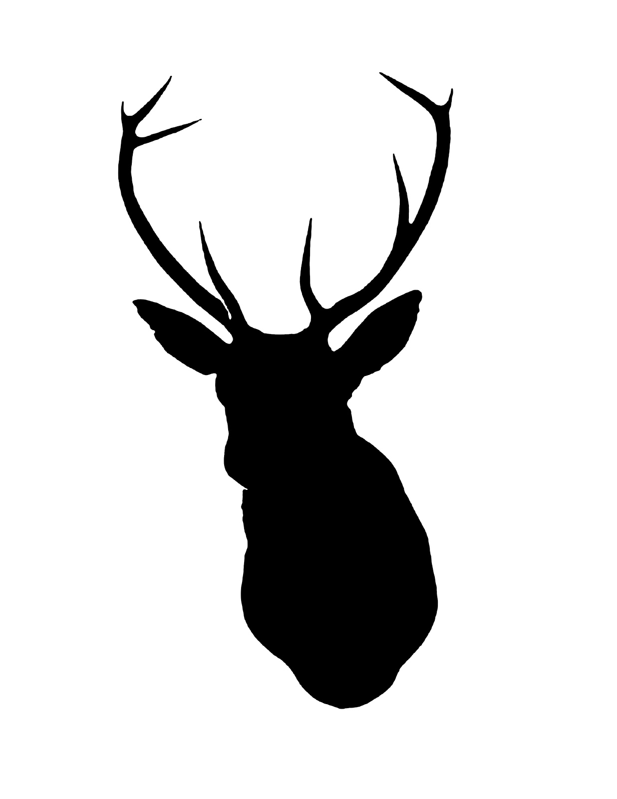 How To Draw A Deer Head Silhouette | picturespider clipartall.com