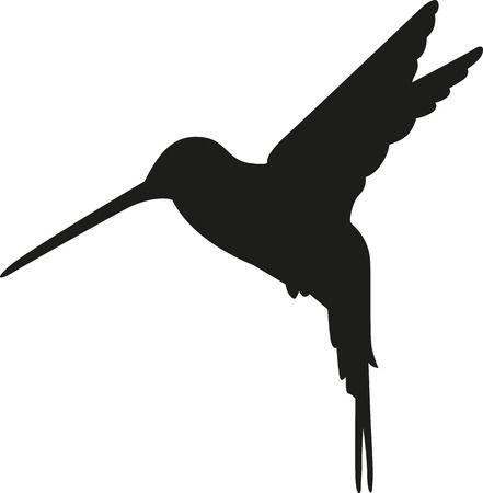 Hummingbird silhouette Illustration