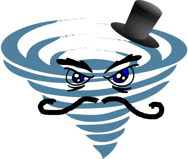 hurricane | Evil Hurricane clip art - vector clip art online, royalty free .