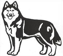 Husky graphics and animated s clip art image