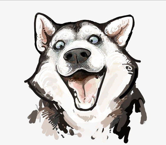 husky watercolor red dogs, Watercolor, Clipart, Husky PNG Image and Clipart