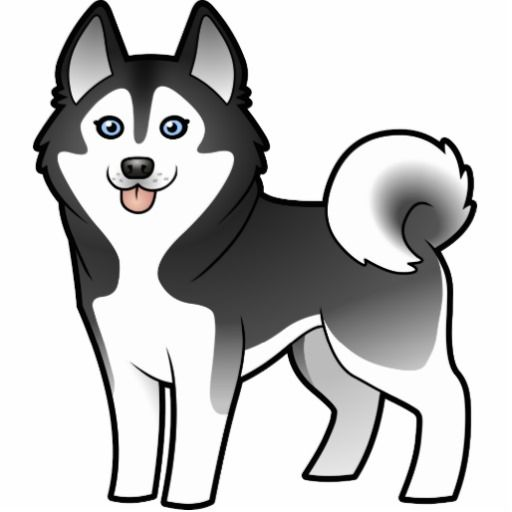 Siberian husky clipart hd