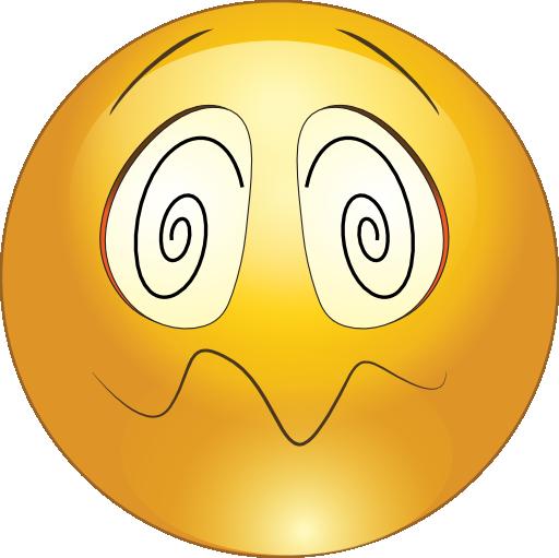 Hypnotized Smiley Emoticon .